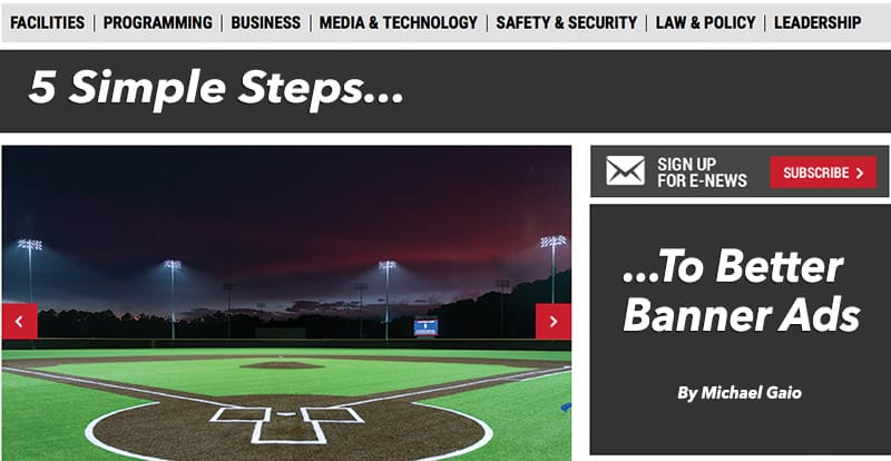Athletic Business Five Steps to a Better Ad Blog
