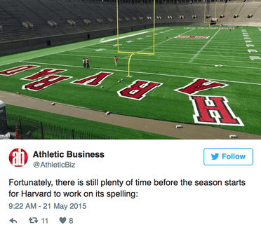 Athletic Business Twitter Example